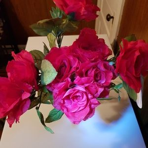 Bushes of Artificial Silk Flowers